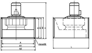 Схема вентиляторов ВРПН-Н и ВРПН-НК