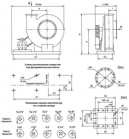 Схема вентилятора ВР 132-30