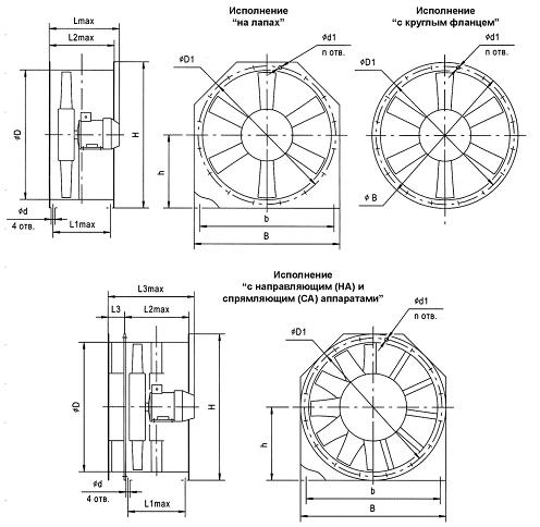 вентилятора ВО 13-284.